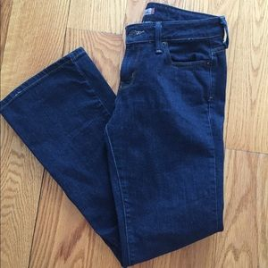 Levi's Dark Denim Low Rise Boot Cut Jeans 6 Short
